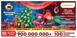 Проверить билет Жилищная лотерея тираж 423